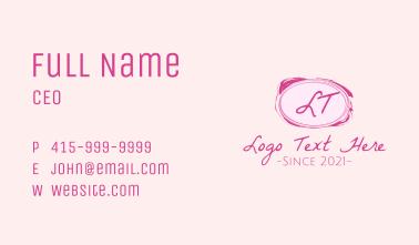 Girly Brush Lettermark Business Card