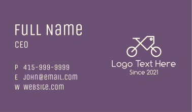 Bicycle Sale Tag Business Card