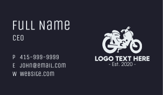 Gray Motorcycle Business Card