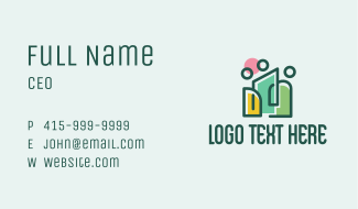 Social Family People  Business Card