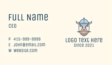 Medieval Viking Mascot Business Card