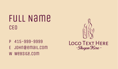 Minimalist Wine Bottle Business Card