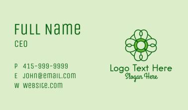Irish Lucky Shamrock Business Card