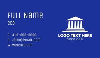 Greek Parthenon Business Card