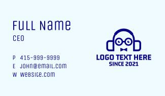 Nerd Bowtie Headphones Business Card