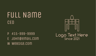 Table Home Furnishing  Business Card