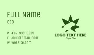 Green Bull Cannabis Leaf Business Card