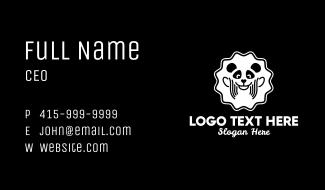 Cute Panda Badge Business Card