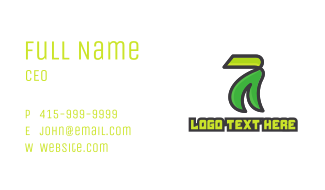 Modern Eco Number 7 Business Card