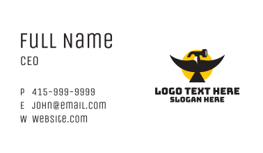 Hammer Bird Hardware Business Card