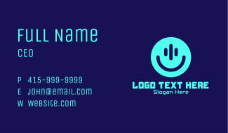 Smiley Streamer Face Business Card