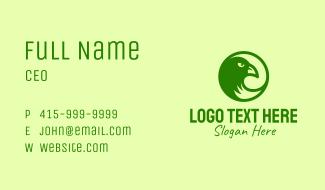 Green Eagle  Circle Business Card