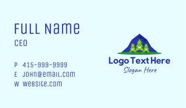 Happy Pine Trees Business Card