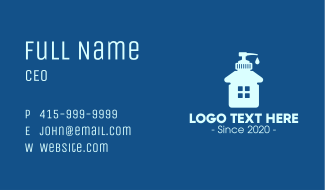 Home Liquid Sanitizer Business Card