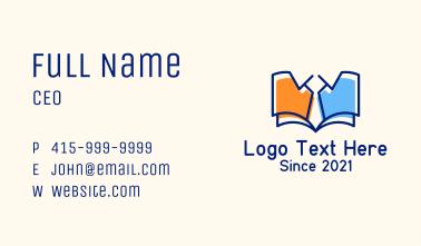 Library Book Necktie Business Card