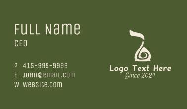 Spa Essential Oil  Business Card