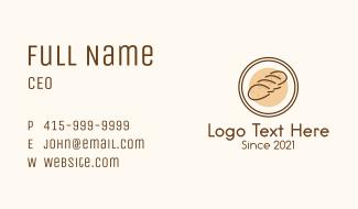 Bread Loaf Badge  Business Card