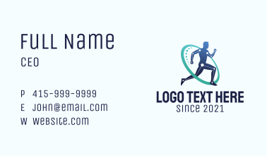 Sports Medical Physiotherapy  Business Card