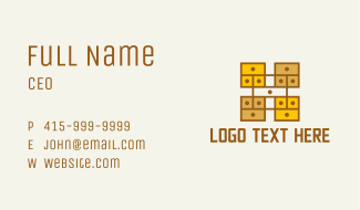 Wooden Furniture Drawer Business Card
