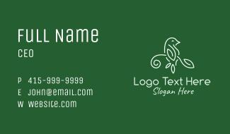 Leaf Bird Outline Business Card