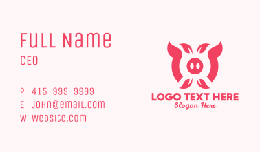 Organic Pig Farm Business Card