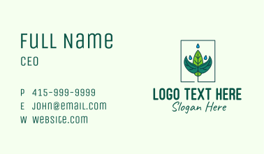 Plant Watering Business Card
