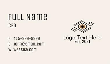 Geometric Eyelash Extension  Business Card