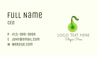 Geometric Pear Fruit  Business Card