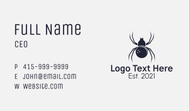 Gray Spider Bowling Ball Business Card