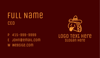 Orange Spicy Taco Business Card