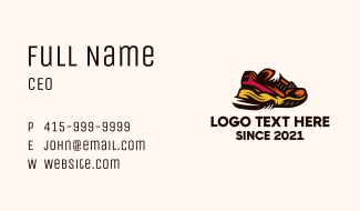 Athletic Rubber Shoes Business Card