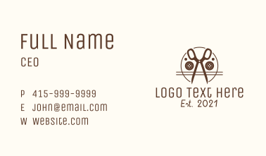 Tailor Scissors Business Card