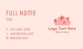 Romantic Heart Cloud  Business Card