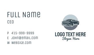 Blue Racecar Business Card