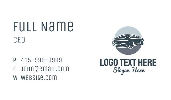 fuel - Blue Racecar Business card horizontal design