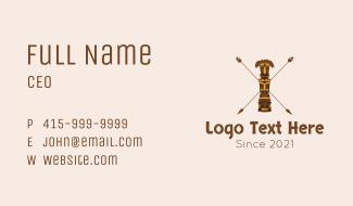 Ethnic Totem Pole  Business Card
