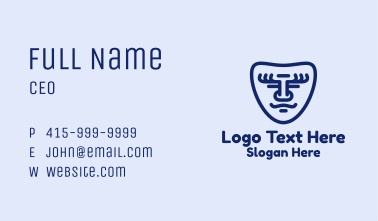 Smiling Face Mask Business Card