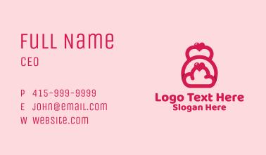 Pink Heart Kettlebell Business Card