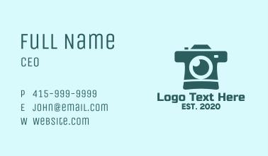 Blue Instant Camera Business Card