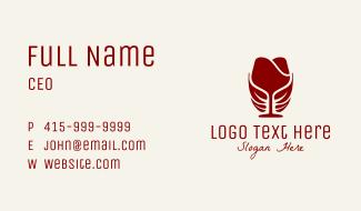Eco Wine Glass Business Card