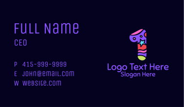 Colorful Shapes Number 1 Business Card