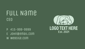 Retro Male Model Business Card