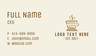 Book Coffee Store Business Card