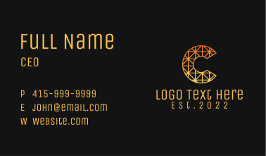 Textile Design Letter C Business Card