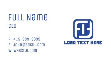 Blue Number 0 Business Card