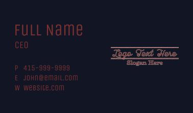 Festive Embroidery Wordmark Business Card