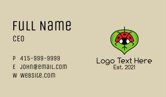 Ladybug Leaf  Business Card