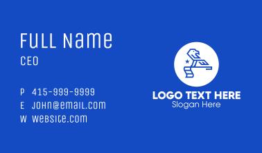 Blue Patriotic Eagle Flagstick Business Card
