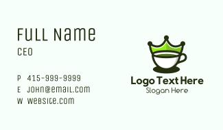 Tea Cup Crown Business Card