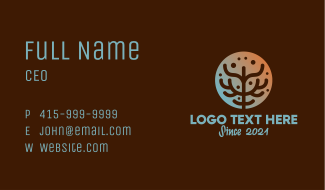 Eco Coral Reef Business Card